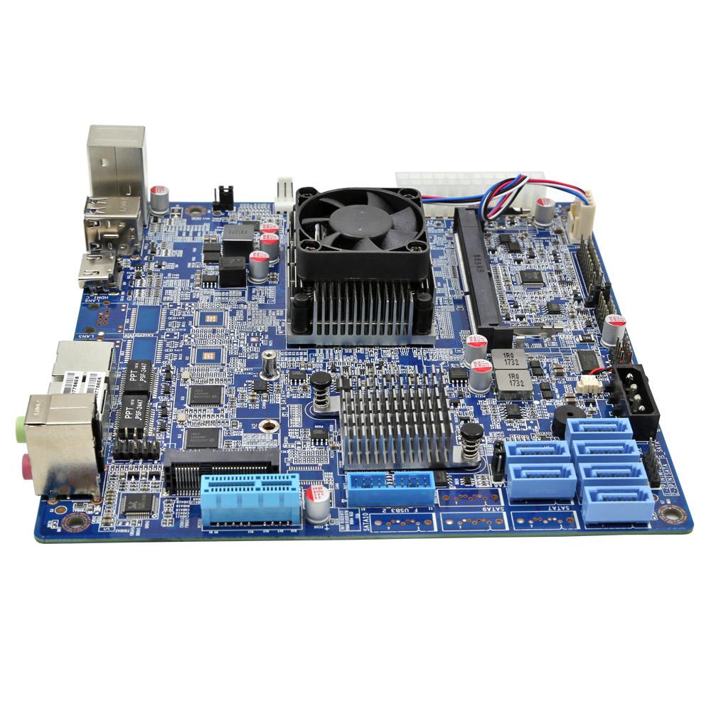 ZC-3855DN-NAS With 6 SATA 3 0 NAS Mini Itx Mainboard-Mini